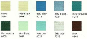 couleurs profils aluminum